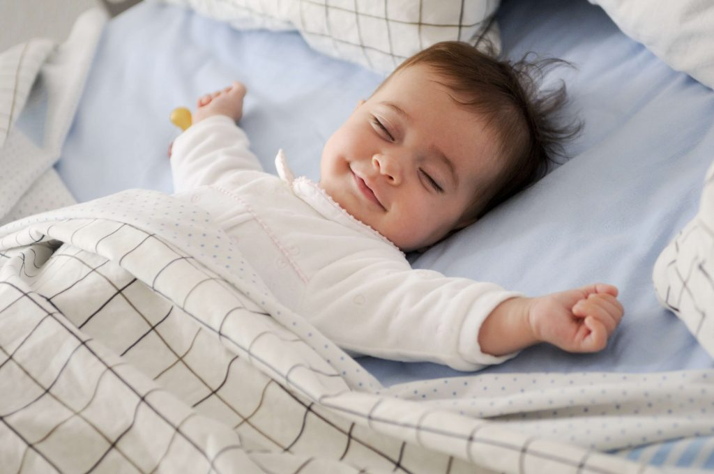 To sleep like a baby means to have a deep and relaxing sleep.