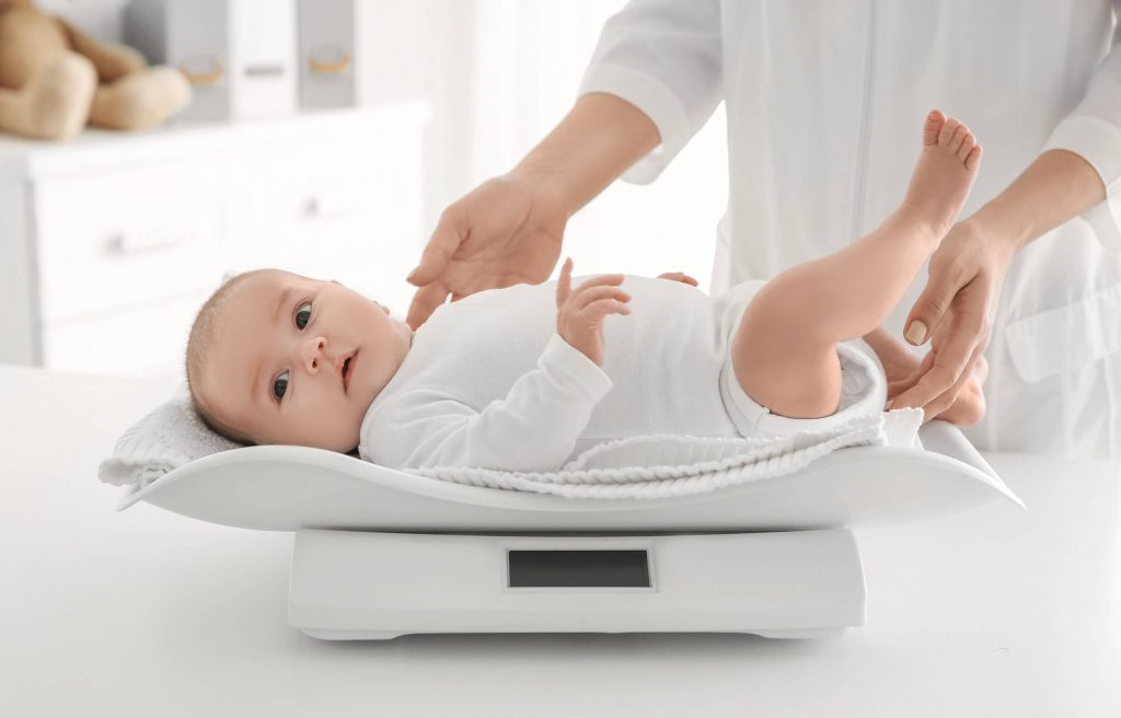 Weigh your baby after regular intervals to record their growth.