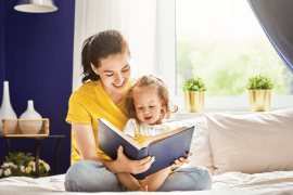 Read with your child to improve their brain development.