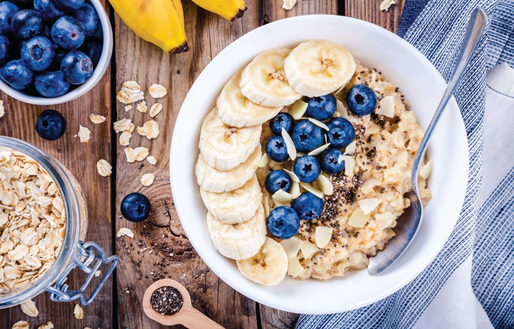Oats and oatmeal are a fairy common choice of breakfast food.