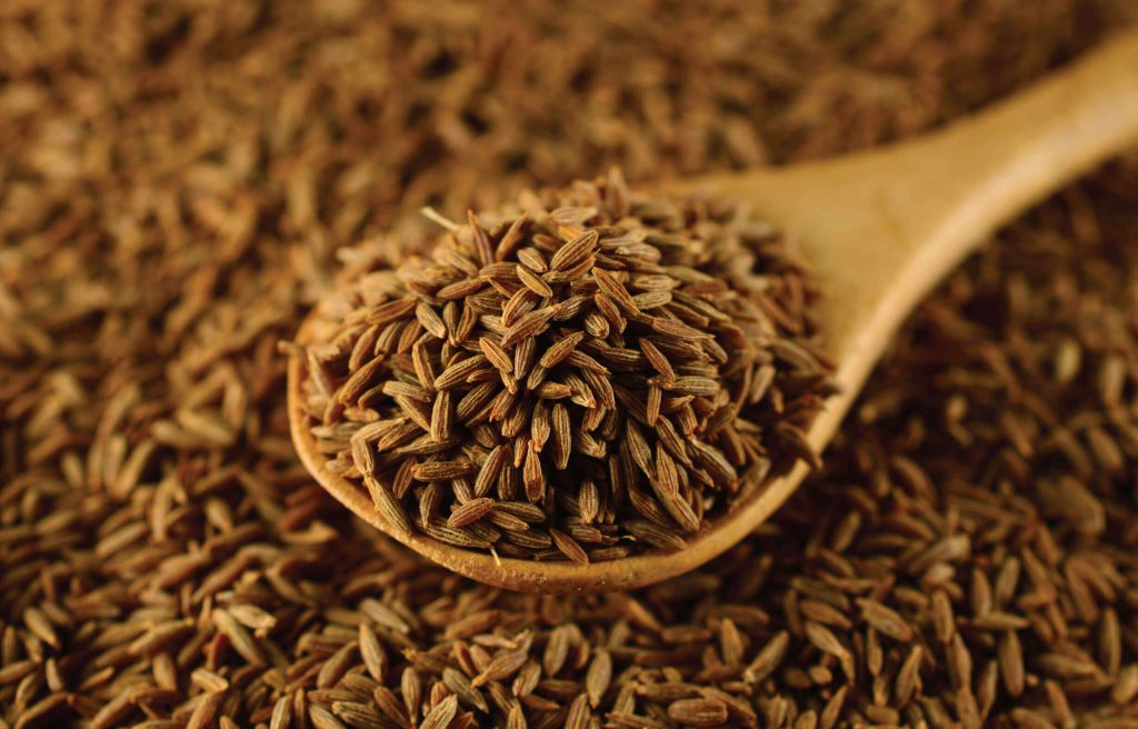 Cumin seeds are a standard spice in most Indian kitchens.