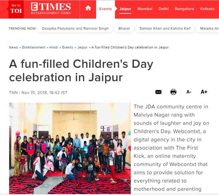Children's day fun jaipur